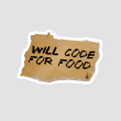 استیکر لپتاپ WILL CODE FOR FOOD - پرسپکتیو