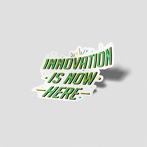 استیکر لپتاپ Innovation Is Now Here - پرسپکتیو