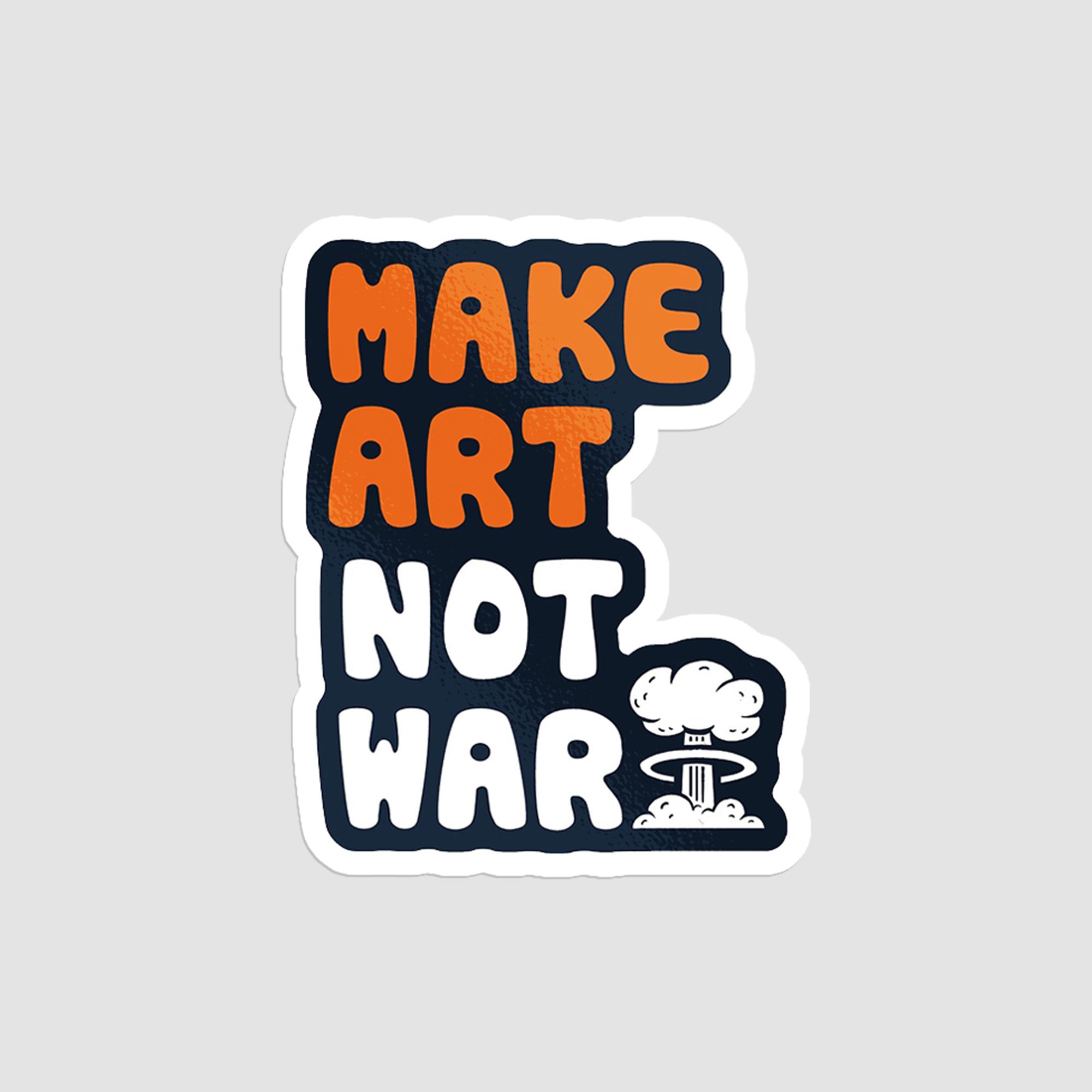 استیکر لپتاپ Make Art Not War - از روبرو