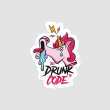 استیکر لپتاپ TOO DRUNK TO CODE - از روبرو